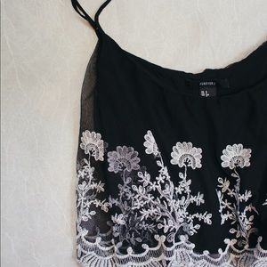 Lacey floral crop top tank